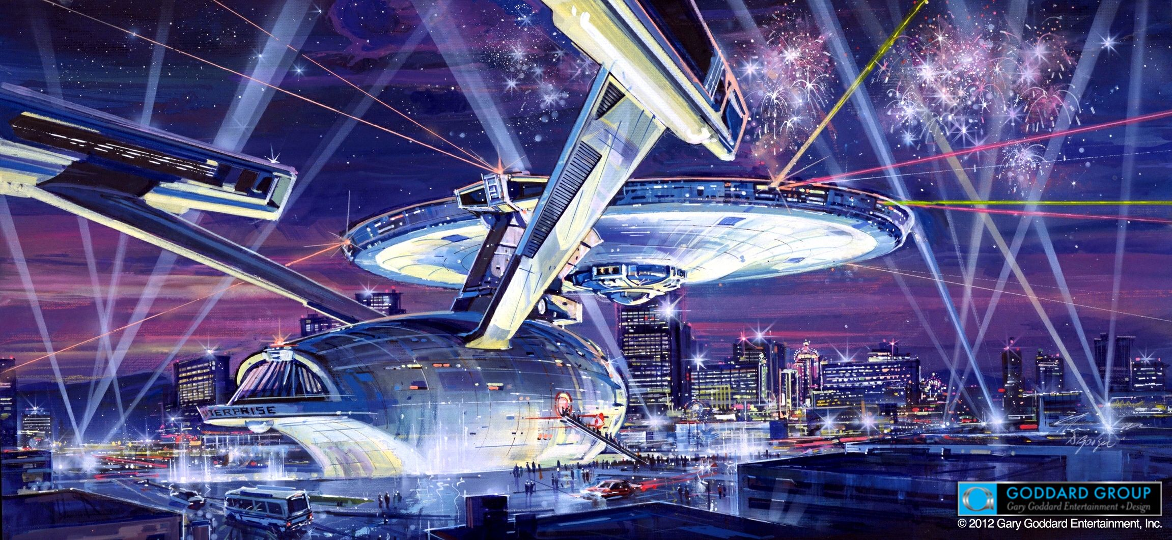 STAR TREK Full Scale USS ENTERPRISE Las Vegas Collider