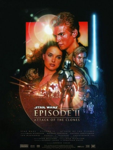 star wars attack of the clones 3d poster