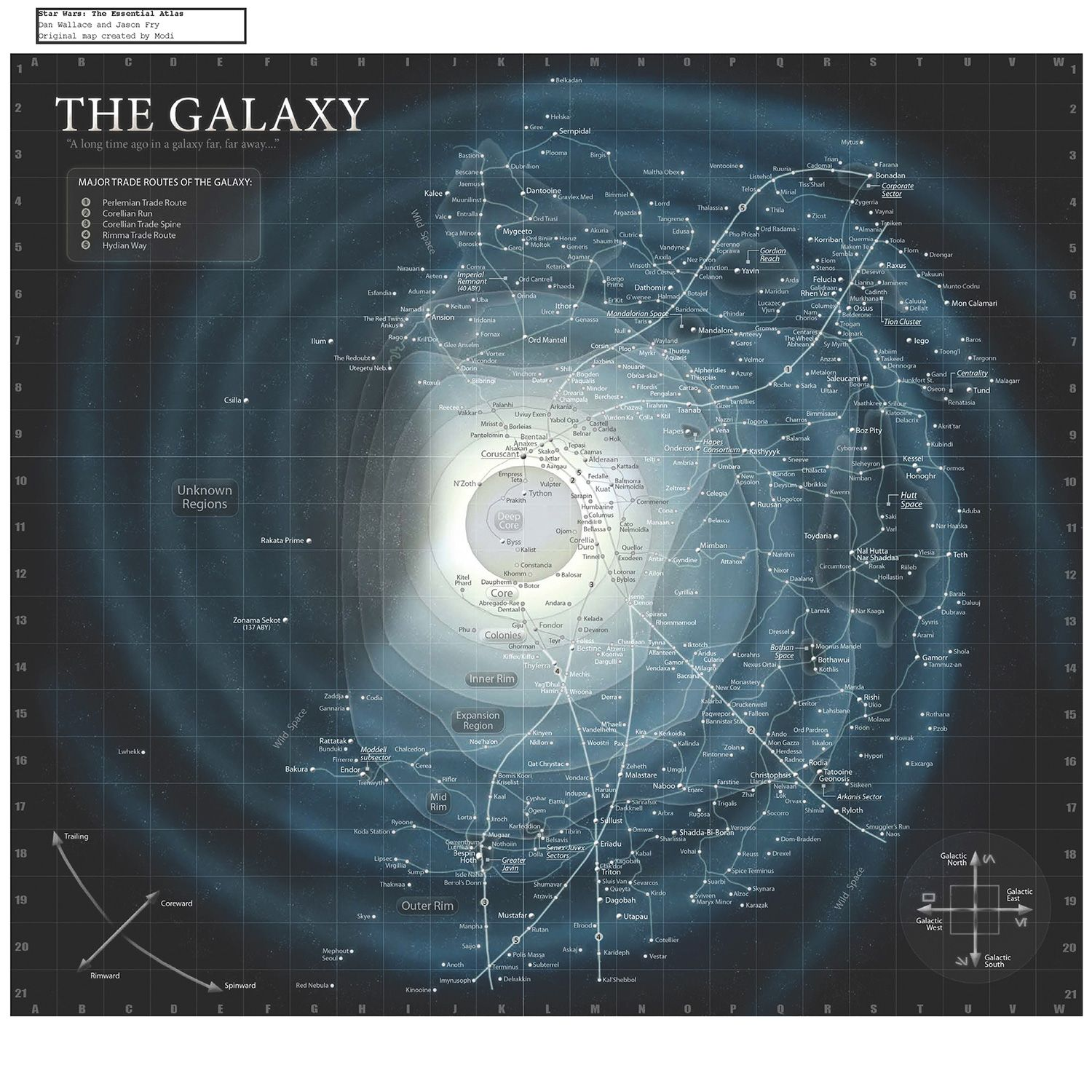 Map of the STAR WARS Galaxy  Collider