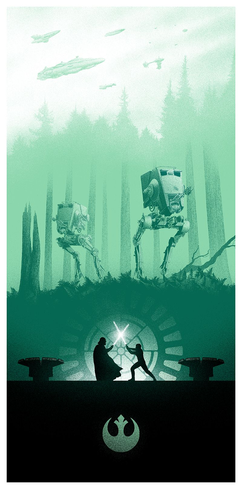 star wars posters from marko manev and bottleneck gallery. Black Bedroom Furniture Sets. Home Design Ideas