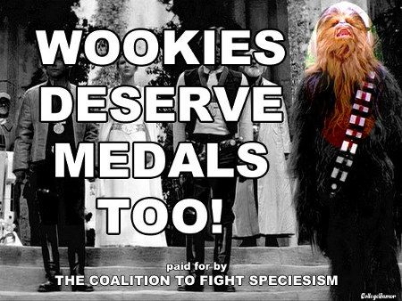 Star Wars Wookies Deserve Medals too