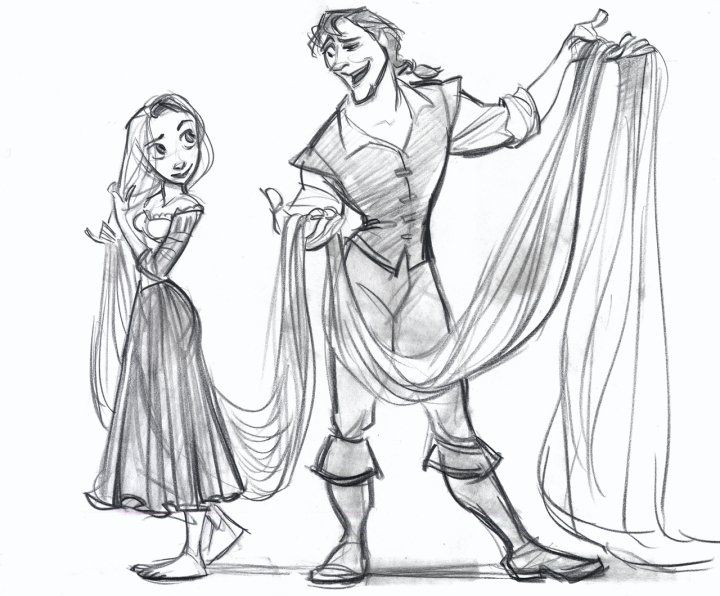 Dibujos Para Colorear Rapunzel: New Concept Art From Disney's TANGLED