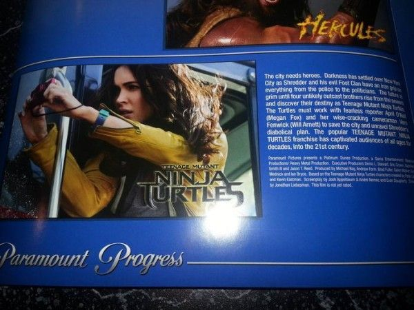 teenage mutant ninja turtles synopsis megan fox