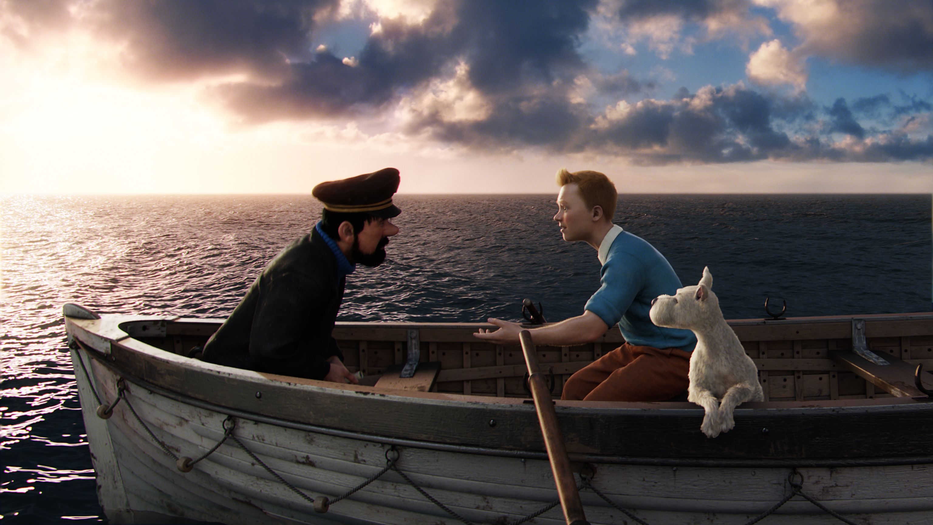 group of tintin movie wallpaper