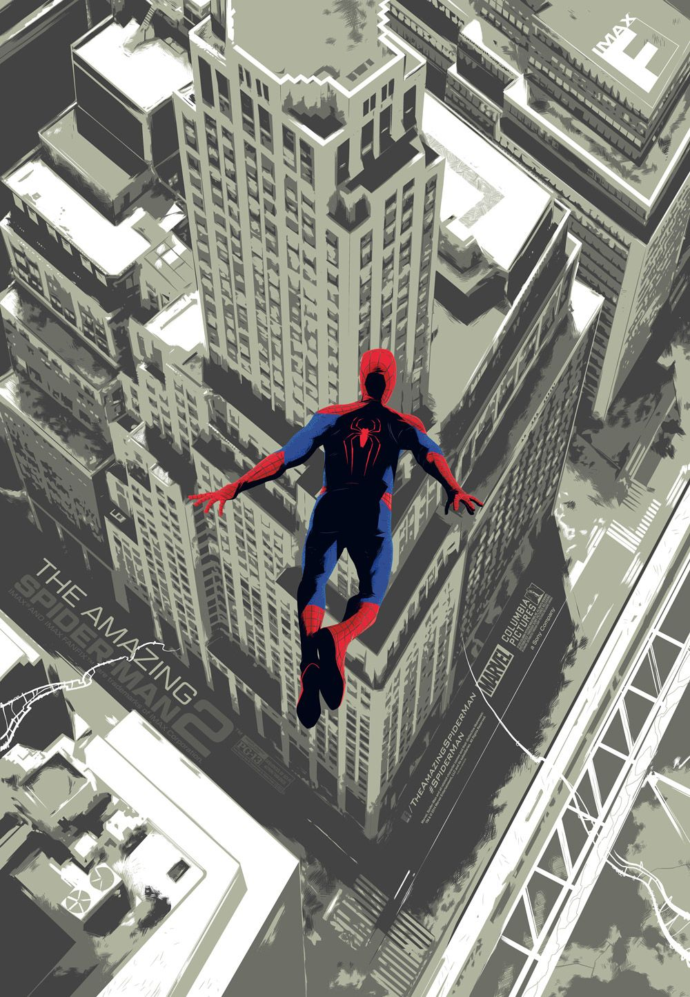 the amazing spider man 2 imax poster plus 22 jump street. Black Bedroom Furniture Sets. Home Design Ideas