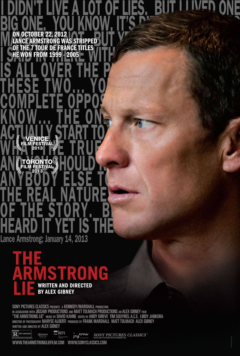 THE ARMSTRONG LIE, THE INVISIBLE WOMAN, and THE PAST ... джозеф гордон левитт