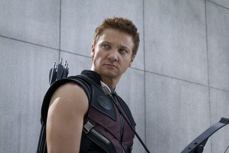 Jeremy Renner and Scarlett Johansson THE AVENGERS ...