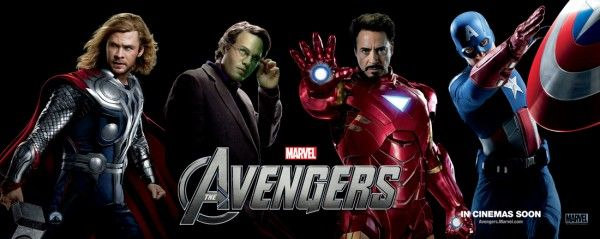 the avengers banner chris hemsworth robert downey jr chris evans mark ruffalo