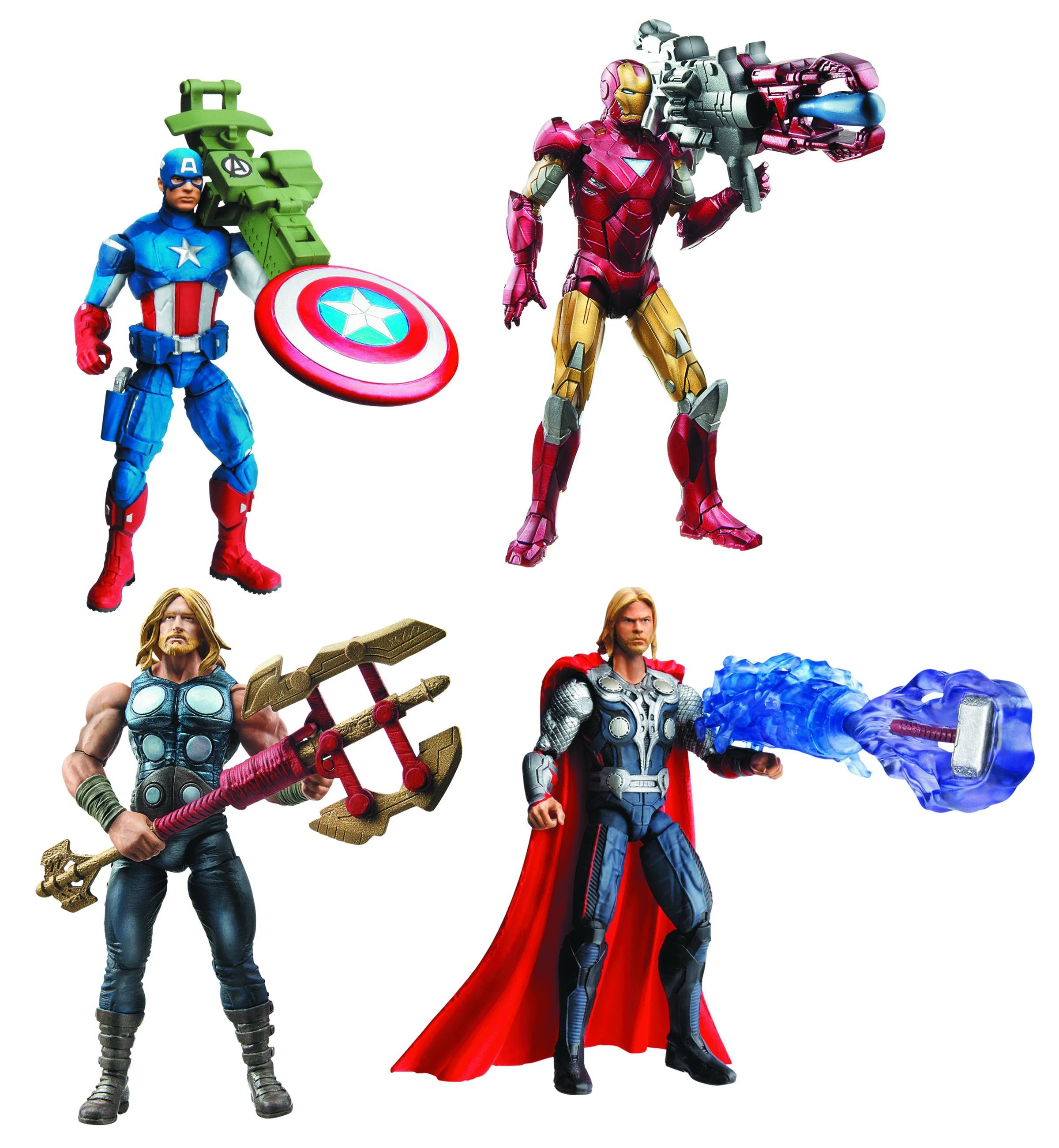 THE AVENGERS Toy Images Featuring Hulk, Iron Man, and ...