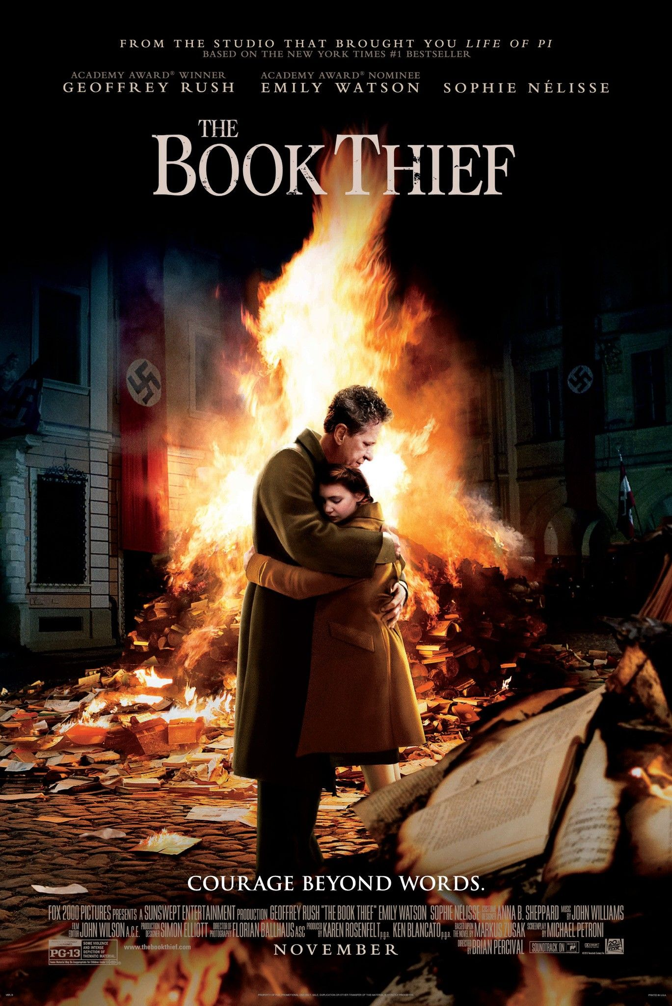 book thief interview brian percival and markus zusak talk the book thief poster