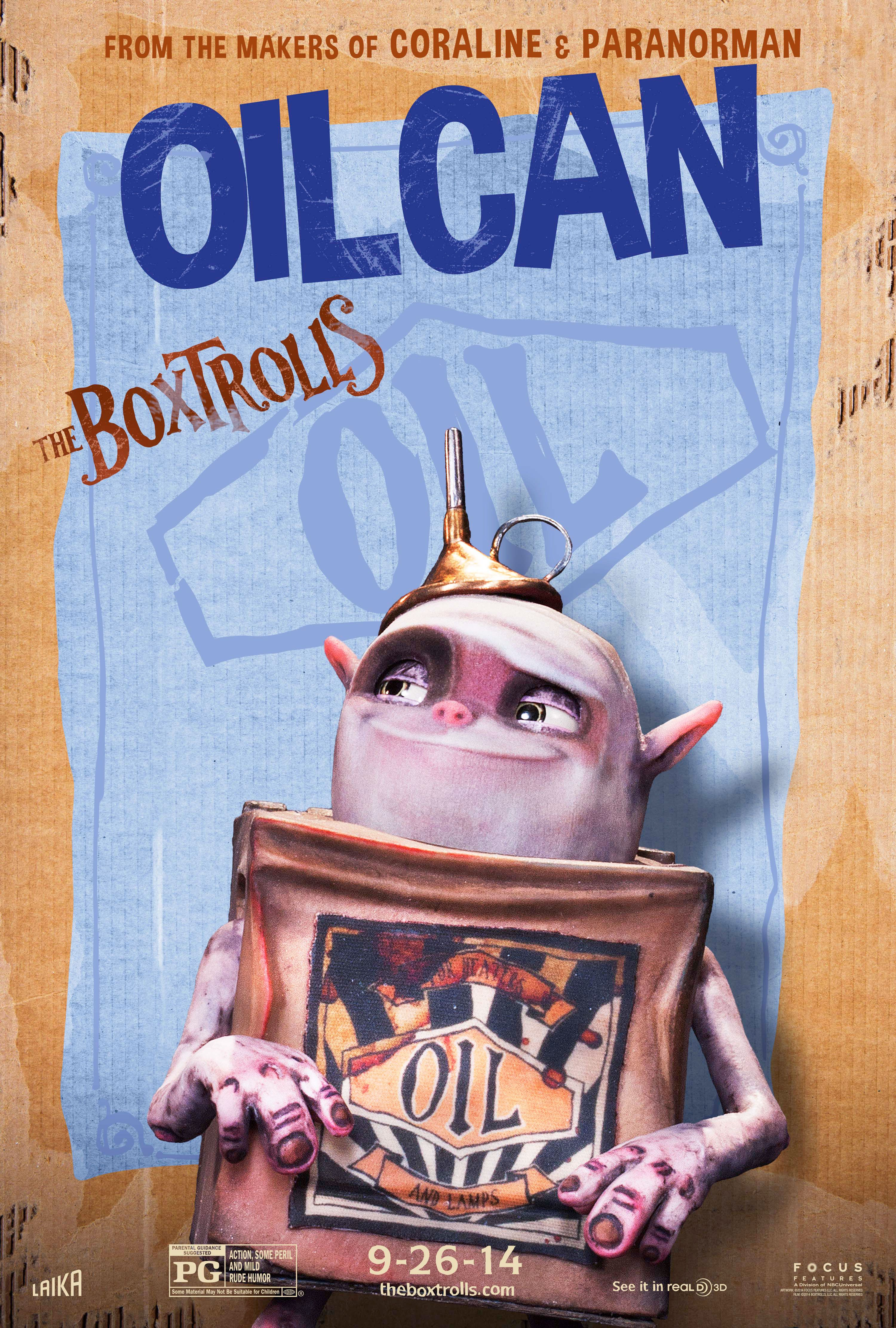 The Boxtrolls Character Posters: Meet Fish, Shoe, Sparky ...