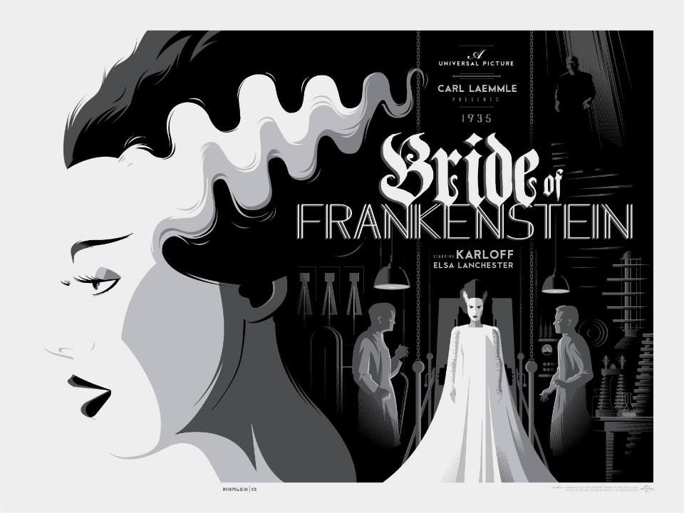 The bride of frankenstein tom whalen variant poster