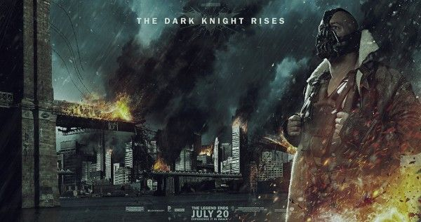 the dark knight rises banner poster bane