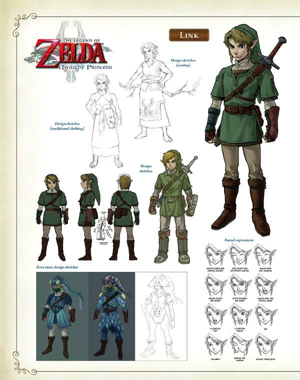 Character Design For Games Book : The legend of zelda hyrule historia book info and images