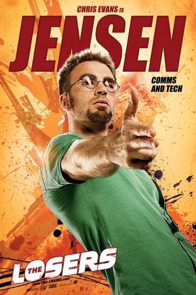 The Losers movie poster Jensen Chris Evans