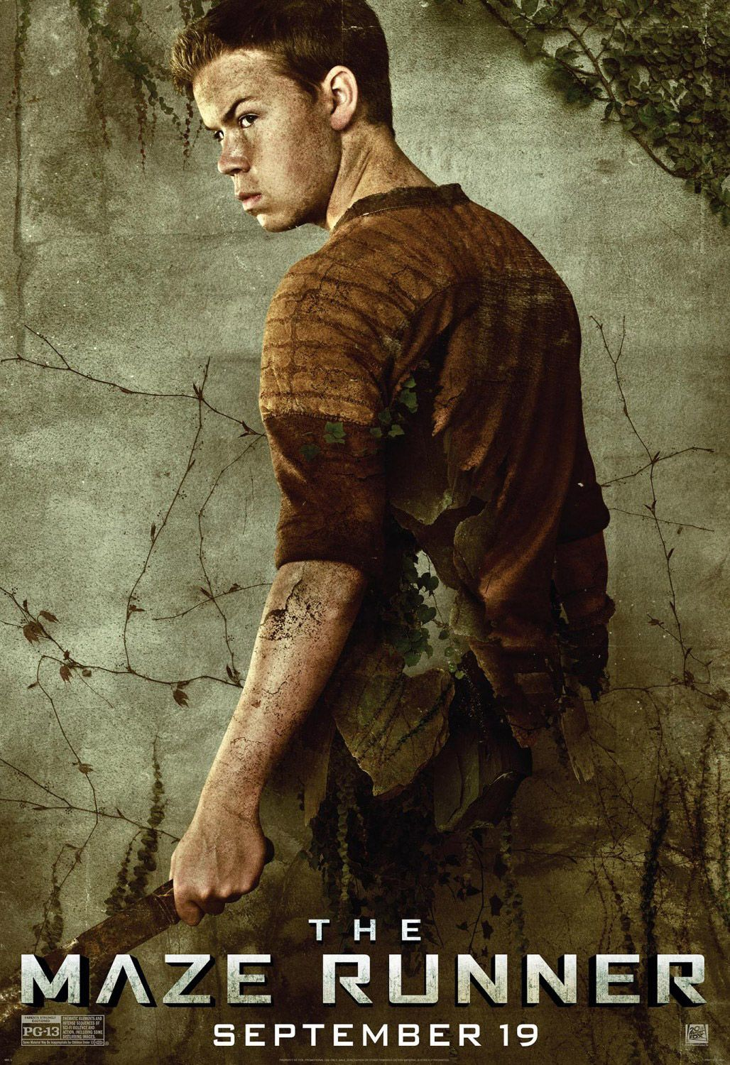The maze runner poster will poulter