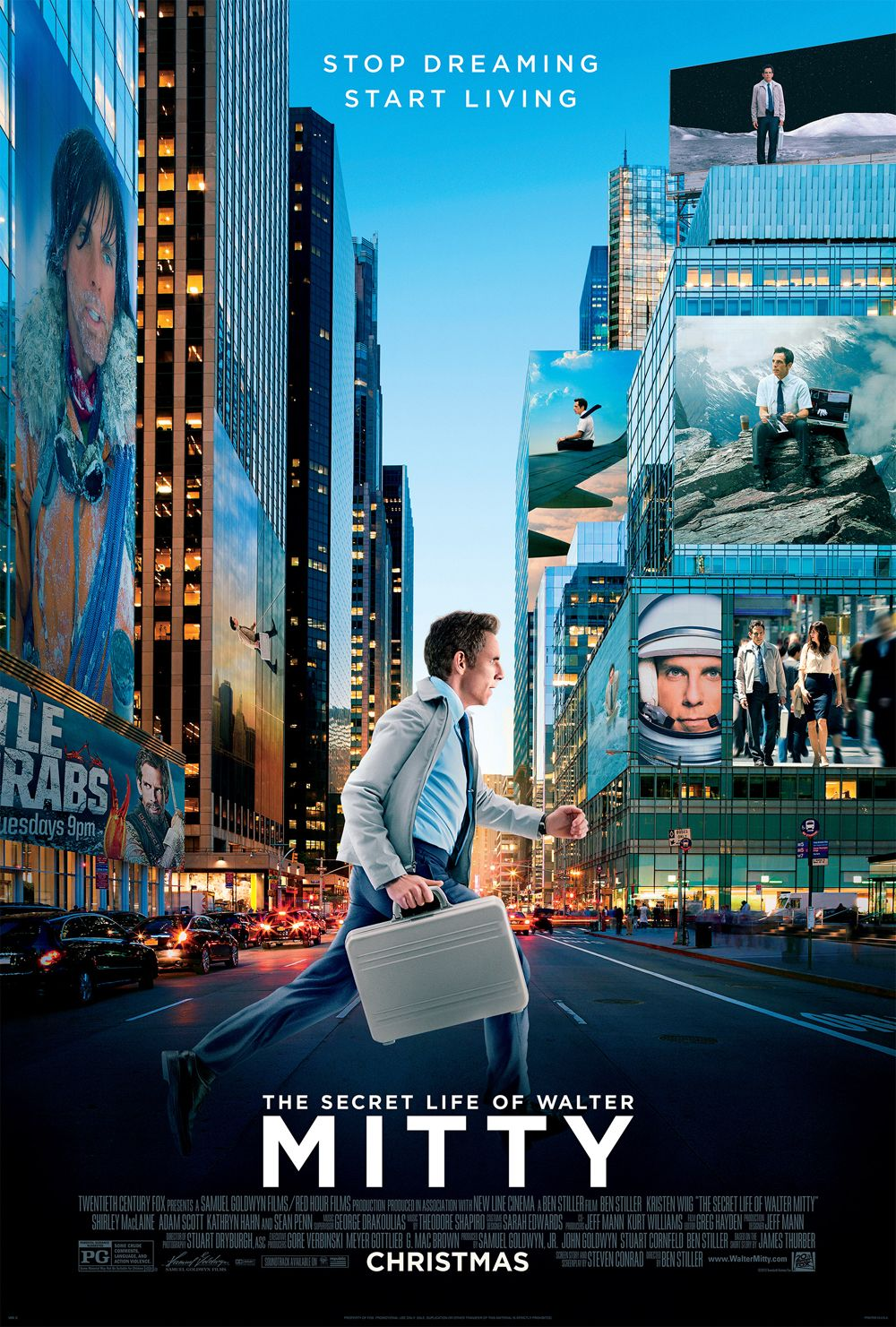 secret life of walter mitty trailer and poster with ben