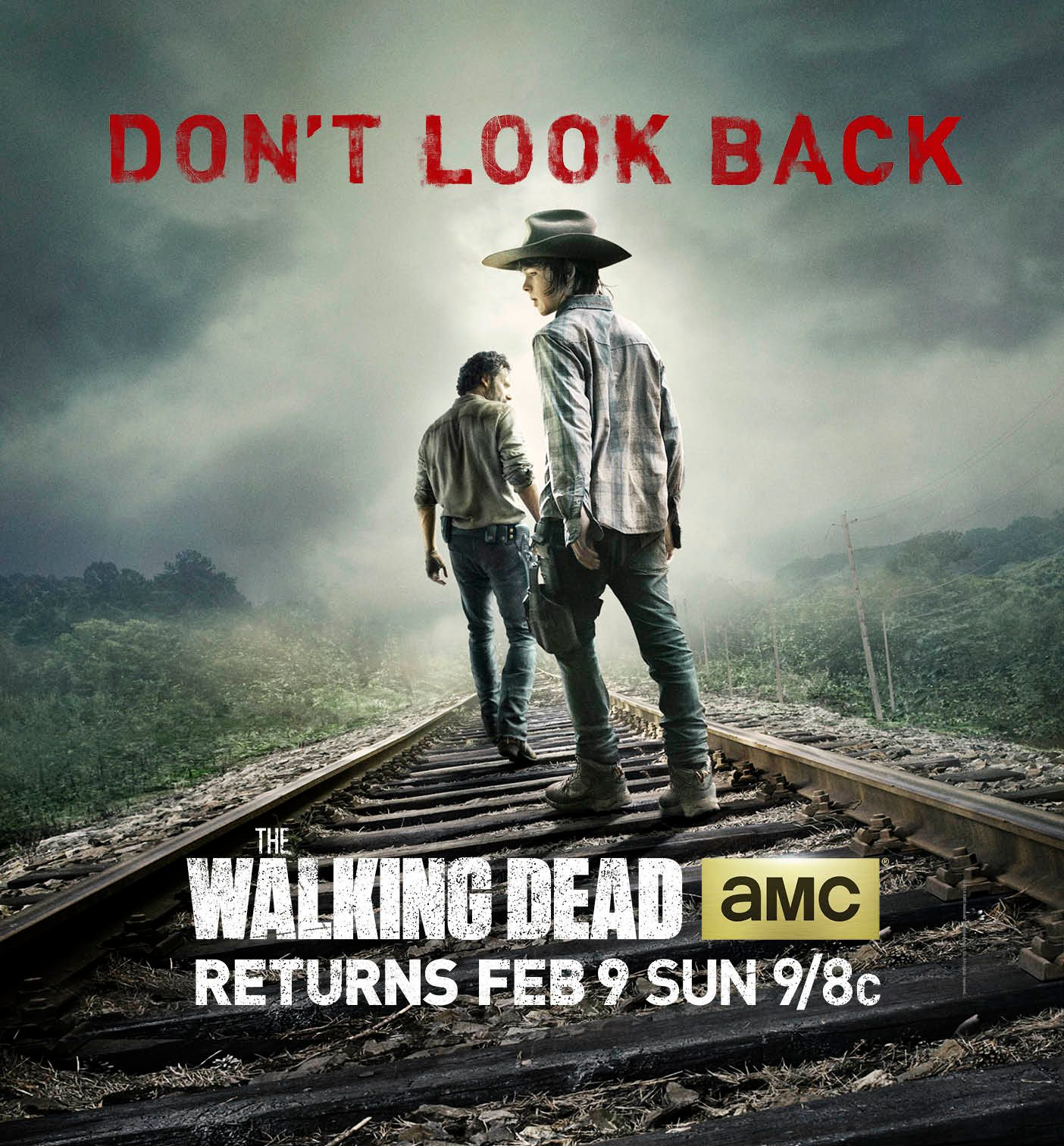 the walking dead season 4 poster featuring andrew lincoln