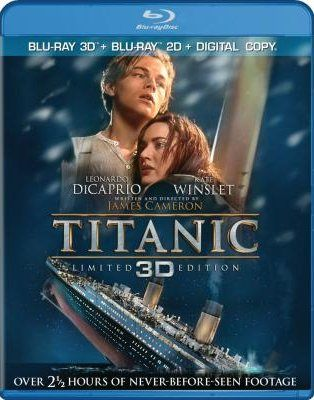 titanic 3d blu ray cover