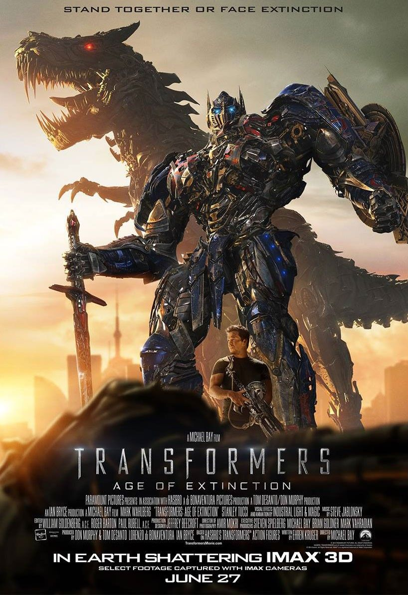 transformers: age of extinction posters with optimus prime | collider