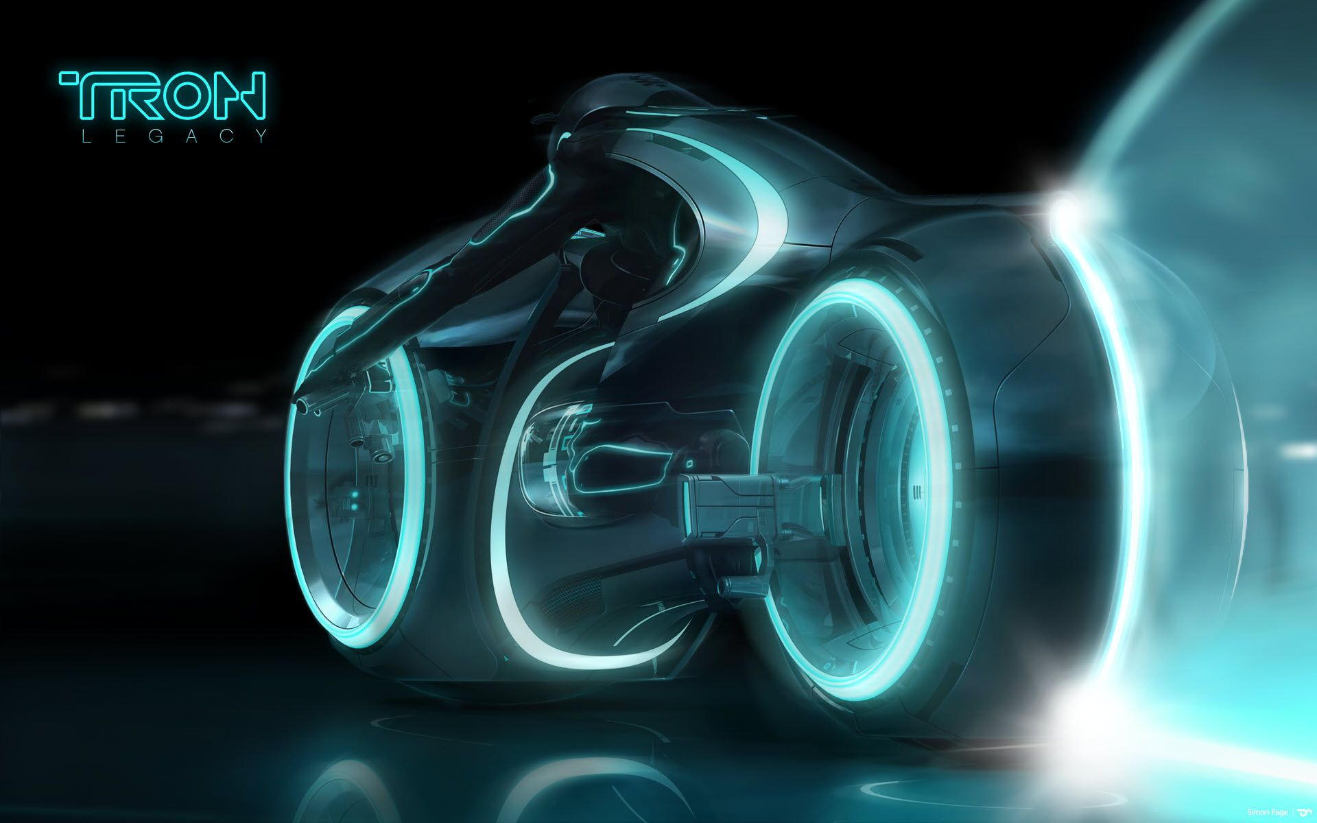 Geek gifts 55 000 street legal tron legacy light cycle for Wallpaper en movimiento