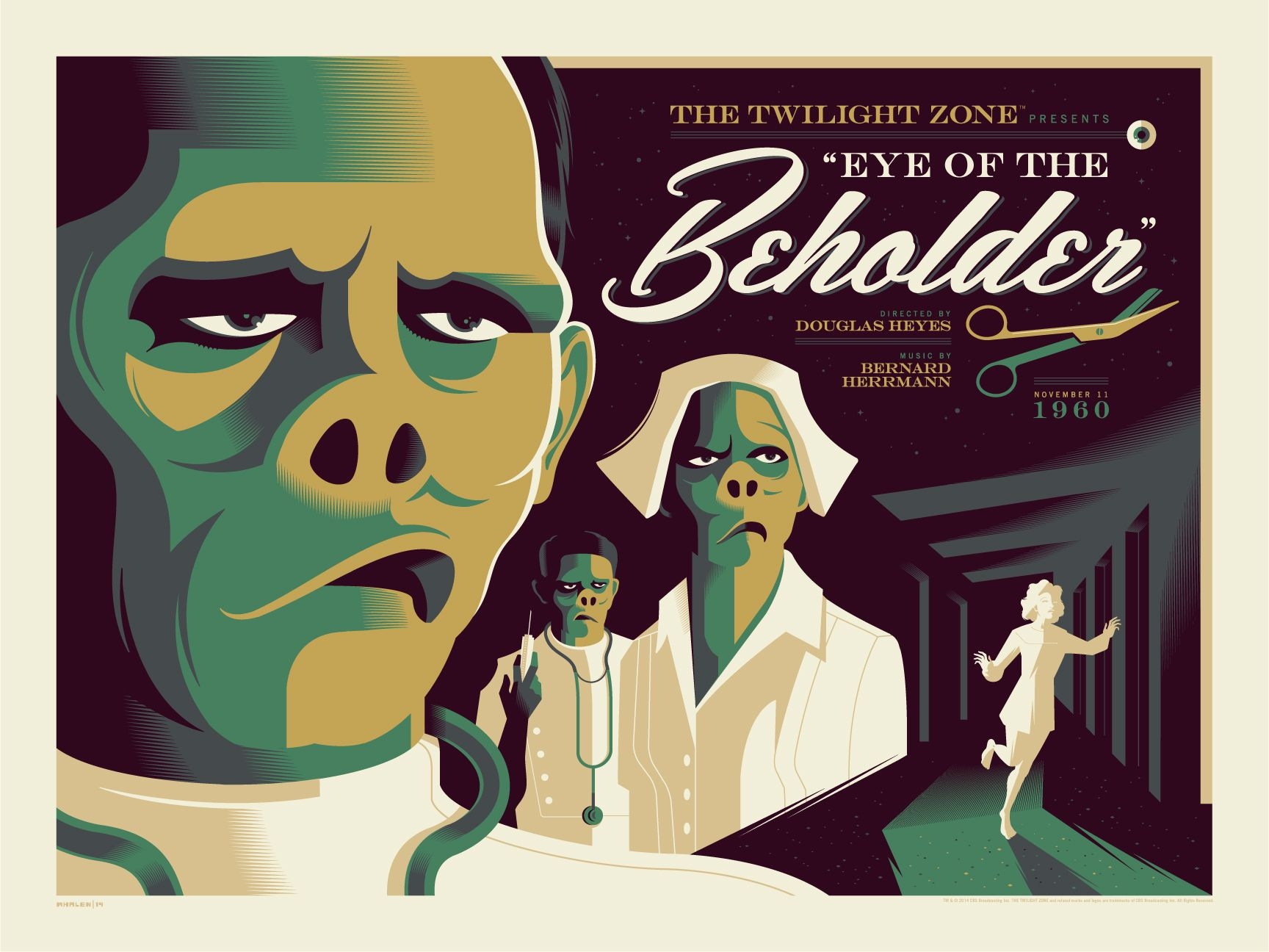 """Twilight Zone episode """"The Eye of The Beholder."""""""