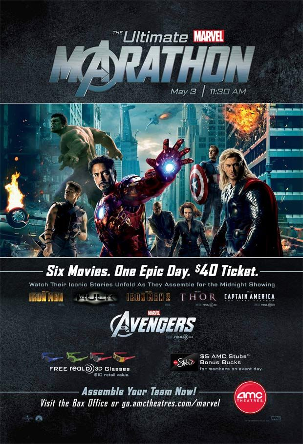 amc theaters announces ultimate marvel marathon featuring