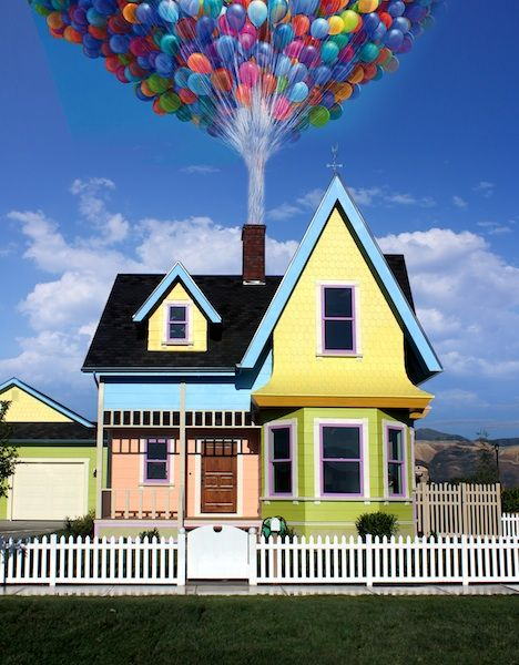 Bangerter Homes Builds Replica of Carl and Ellie's House ... Up House Pixar Drawing