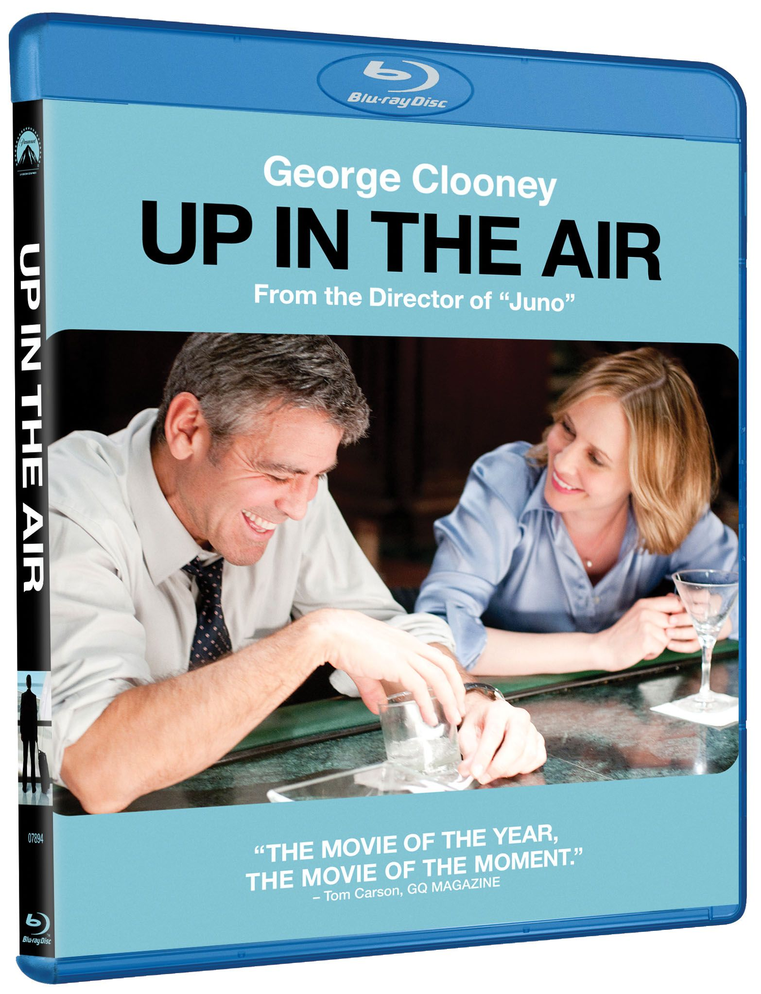 up in the air dvd blu ray cover art and info collider collider. Black Bedroom Furniture Sets. Home Design Ideas
