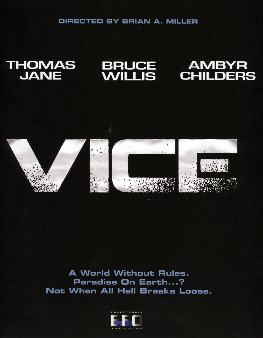 vice movie poster vice stars bruce willis and ambyr childers