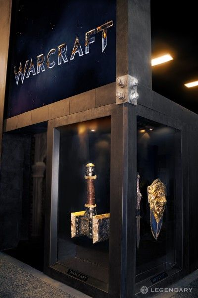 warcraft movie props comic con