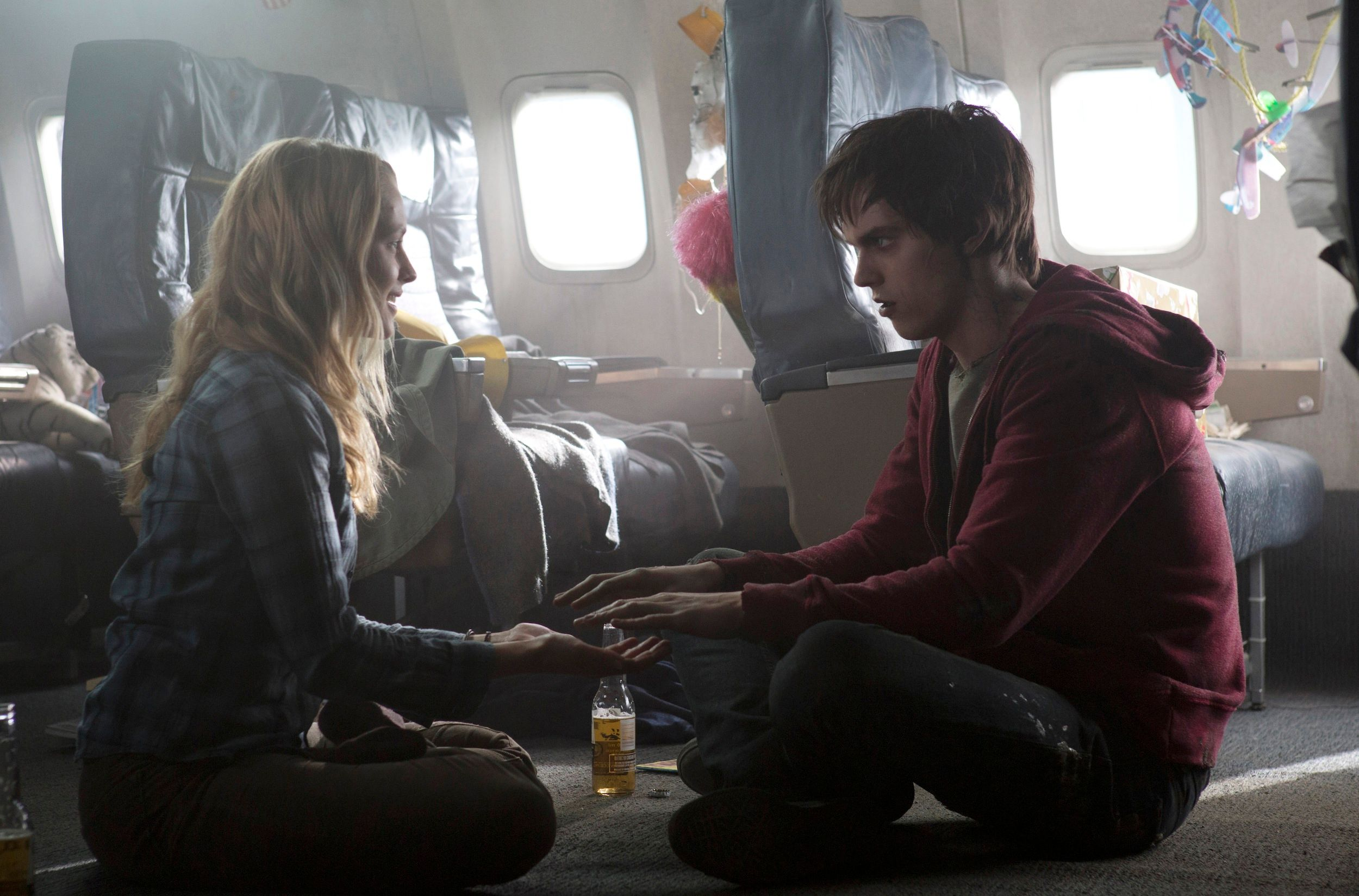 matt visits the set of warm bodies, dies, and becomes a zombie