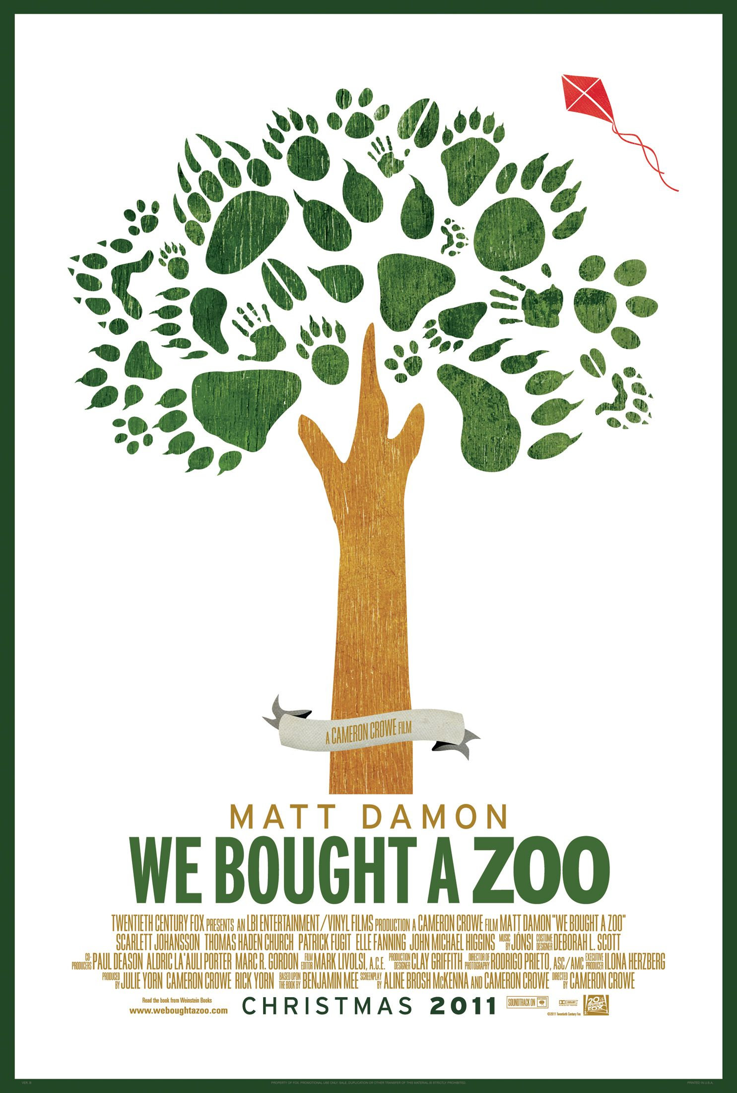 Zoo poster design - We Bought A Zoo Poster