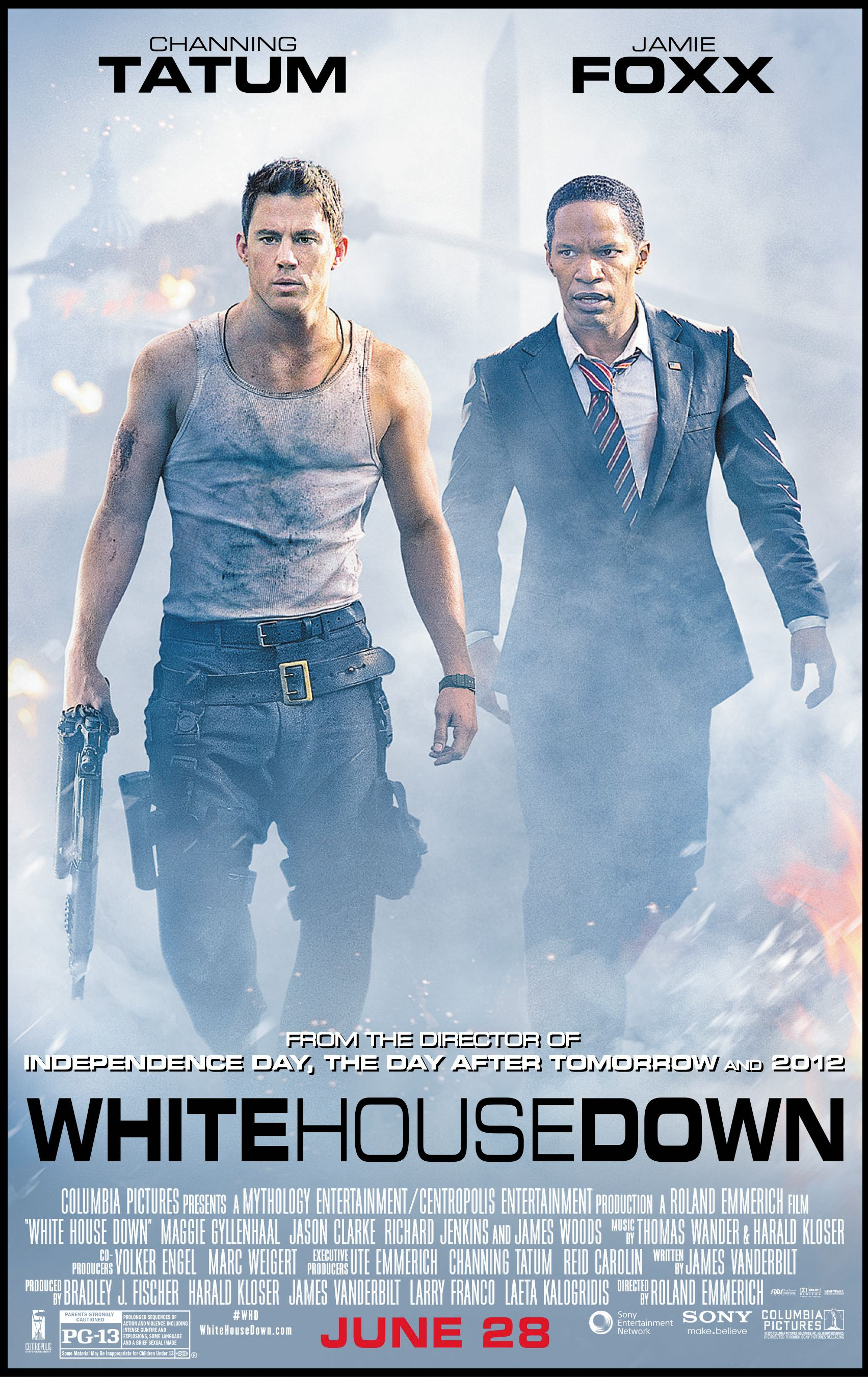 white house down review white house down stars channing tatum and jamie foxx collider. Black Bedroom Furniture Sets. Home Design Ideas