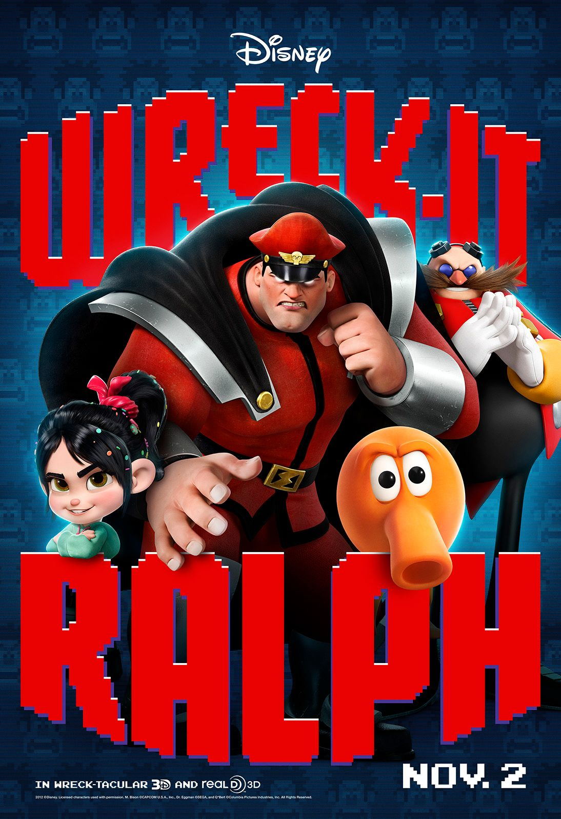 wreckitralph posters feature classic video game baddies